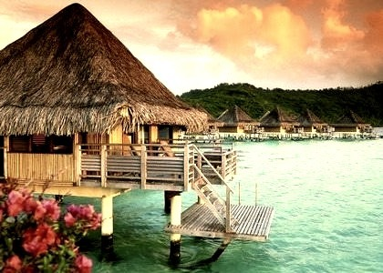 Tropical Sunset, Tahiti