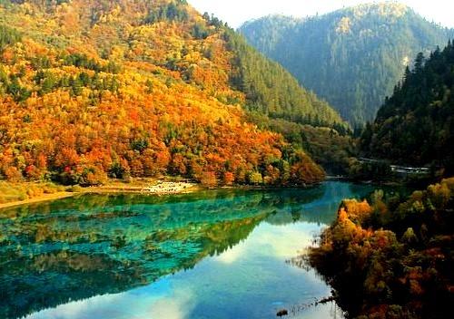 by Bryan Chang on Flickr.Jiuzhai Valley in Jiuzhaigou National Park, Sichuan province, China.