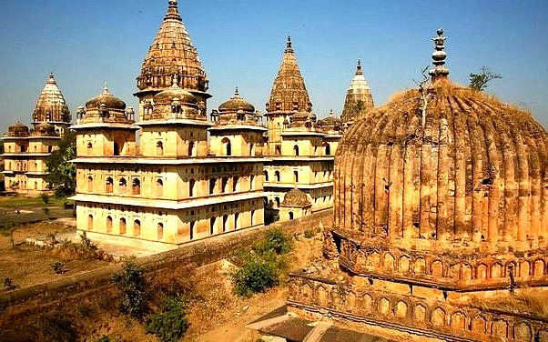 by entrelec on Flickr.The Chhatri, princes cenotaphs on the Betwa riber banks in Orchha - Madhya Pradesh, India.