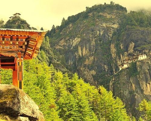 by john a d willis on Flickr.Prayer wheel on the way to Tiger`s Nest Monastery, Bhutan.