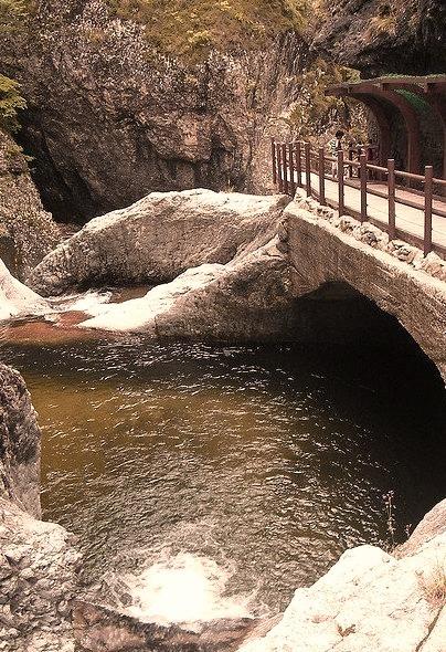 by stuartsfraser on Flickr.Beautiful gorge in Juwangsan National Park, South Korea.