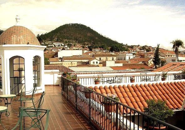 Rooftop view in Sucre, Bolivia