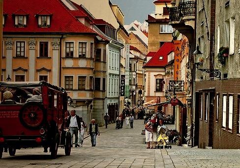 Street scene in Bratislava, Slovakia