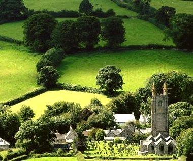 Widecombe-in-the-Moor, Dartmoor, England