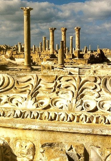 The roman ruins of Sabratha in northwestern Libya