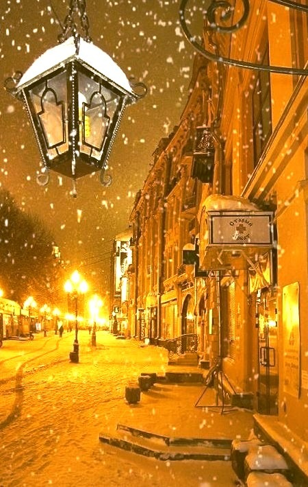 Snowy Night, Moscow, Russia