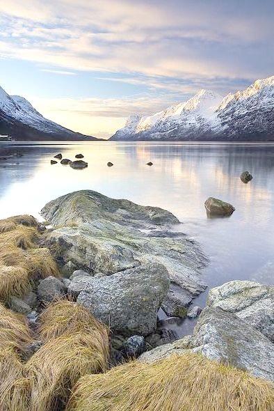 Sunset in Ersfjord, Troms, Norway