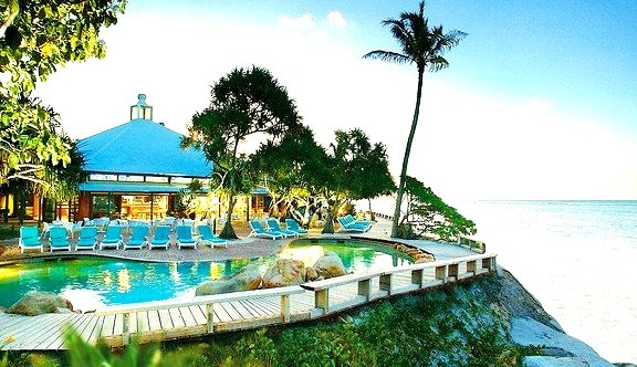 Resort pool on Heron Island, Queensland, Australia