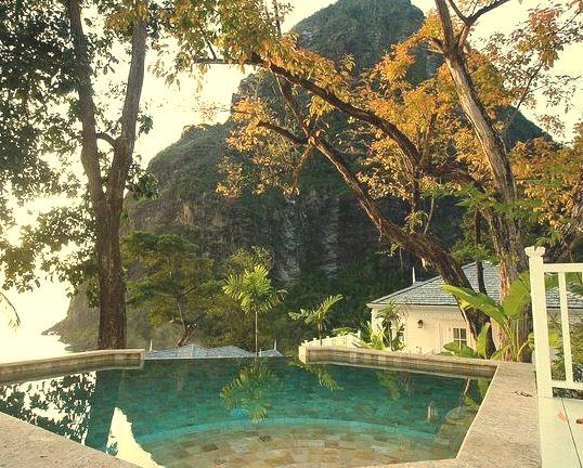 Plunge pool at Jalousie Plantation Resort, St. Lucia