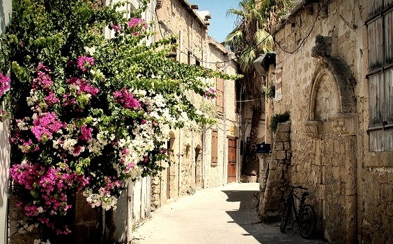 Medieval streets of Kyrenia in Northern Cyprus