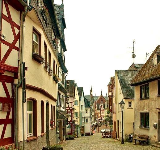 The small idyllic town of Montabaur in Rhineland-Palatinate, Germany