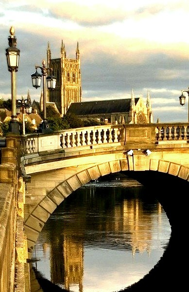 Sunset Bridge, Worcester, England
