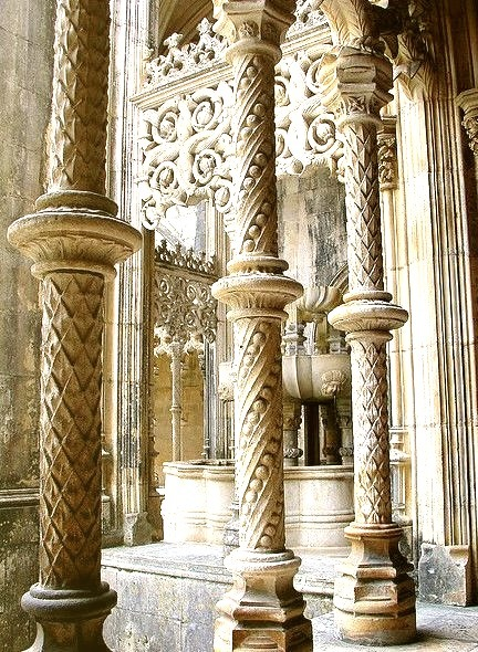 Gothic architecture at Batalha Monsatery, Portugal