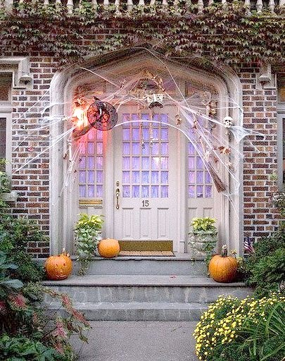 Halloween decorated house in Brooklyn, New York City