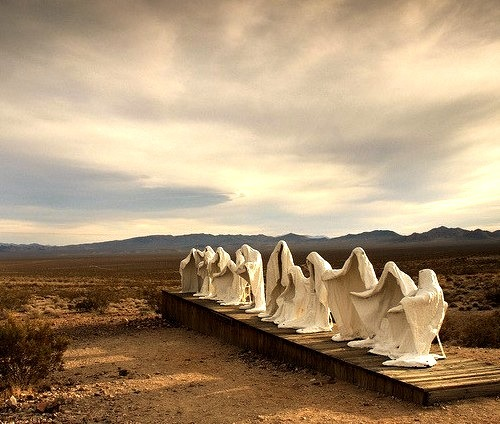 Last Supper, Ryholite ghost town, Nevada, USA