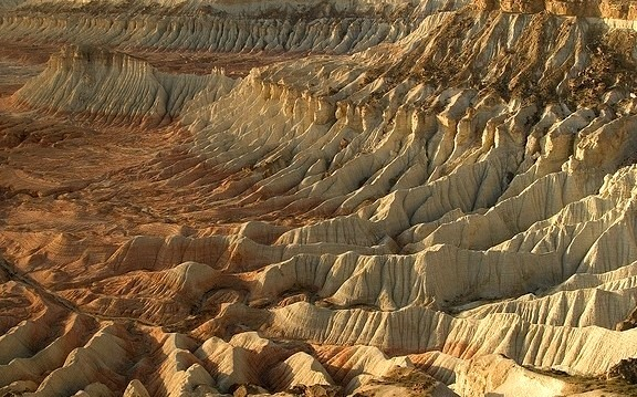 Colorful and rugged Yangykala Canyon in Turkmenistan