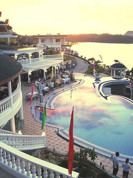 Infinity pool at Monaco Suites in Boracay Island, Philippines