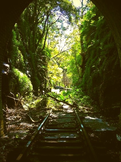 Abandoned Helensburgh Tunnel in New South Wales / Australia